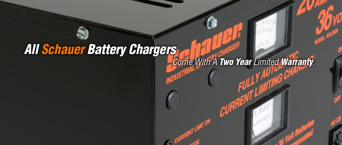 All Schauer Battery Chargers Come With A Two Year Limited Warranty.